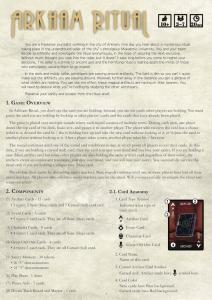 Arkham Ritual Rulebook